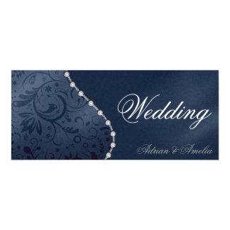 Hochzeits-Perlen-Einladung 10,2 X 23,5 Cm Einladungskarte