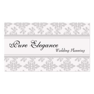 Hochzeits-Planer-Damast-mit Filigran geschmückte Visitenkarten