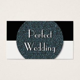 Hochzeits-Planer-Geschäfts-Karten-Blau-Glitter Visitenkarte