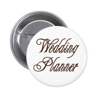 Hochzeits-Planer-nobles Braun Runder Button 5,1 Cm