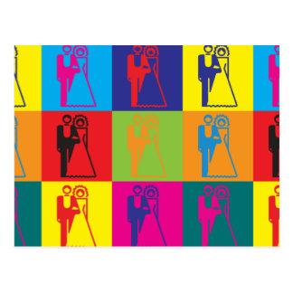 Hochzeits-Pop-Kunst Postkarte