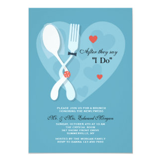 Hochzeits-Posten-Hochzeits-Brunch-Einladung 12,7 X 17,8 Cm Einladungskarte