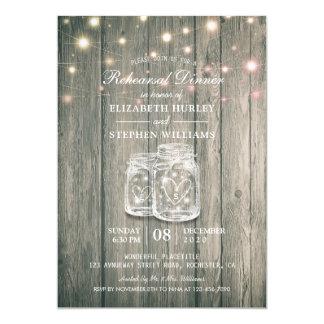 Hochzeits-Proben-Abendessen-Holz rüttelt Karte