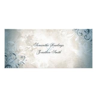 Hochzeits-Programm - elegantes Vintages Laub u. Bedruckte Werbekarte