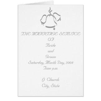 Hochzeits-Programm Grußkarte