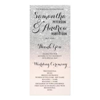 Hochzeits-Programm ombre Glitter des Chic-Imitats Karten Druck