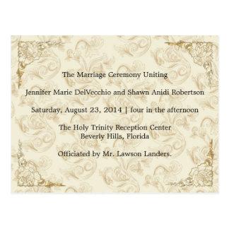 Hochzeits-Programm, paginieren 1 von 2. Postkarte