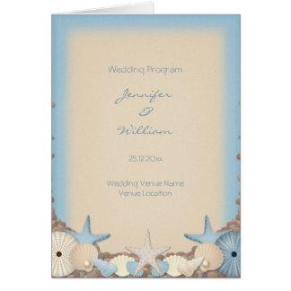 Hochzeits-Programm-schöne tropische Karte