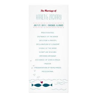 Hochzeits-Programm Werbekarte