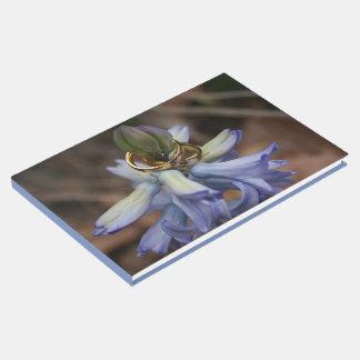 Hochzeits-Ring-Hyazinthen-Blumen-Gast-Buch Gästebuch