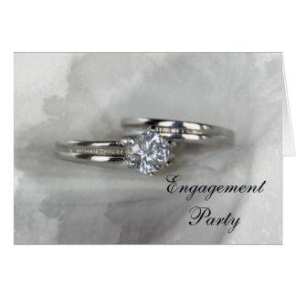 Hochzeits-Ring-Verlobungs-Party Einladung