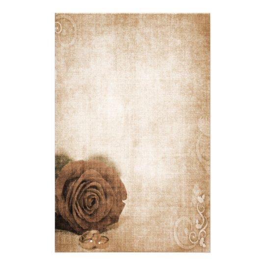 Hochzeits-Rose Vintag Briefpapier