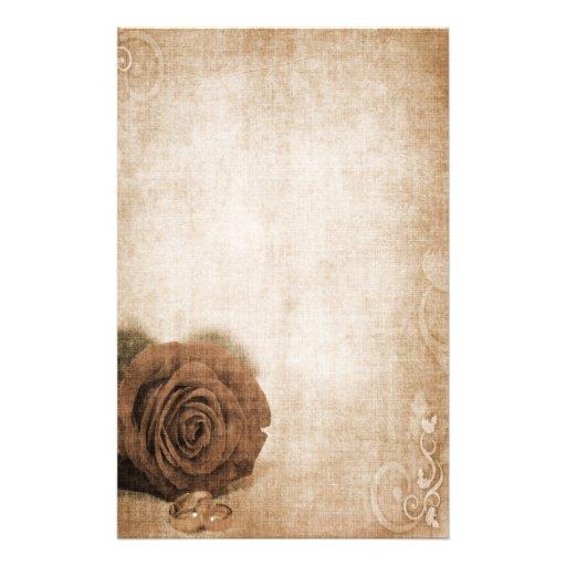 Hochzeits-Rose Vintag Personalisierte Büropapiere
