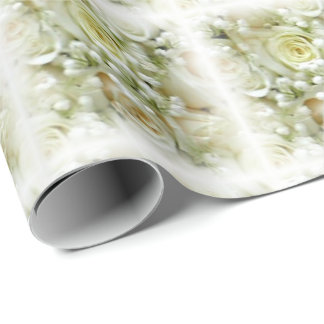 Wedding Roses Bouquet Wrapping Paper