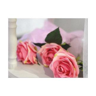 Hochzeits-Rosen Leinwanddruck