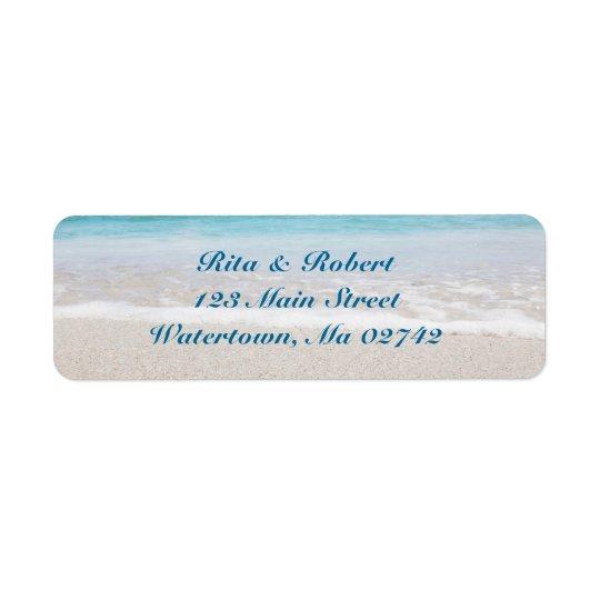 Hochzeits-Rücksendeadressen-Aufkleber - Ozean I