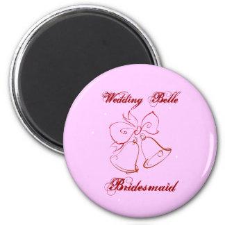 Hochzeits-Schönheits-Brautjungfer Runder Magnet 5,1 Cm