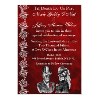 Hochzeits-Skeleton Schädel-Einladung 12,7 X 17,8 Cm Einladungskarte