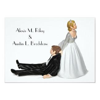 Hochzeits-Spaß 11,4 X 15,9 Cm Einladungskarte