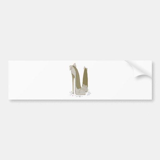 Hochzeits-Stilett beschuht Kunst Autosticker