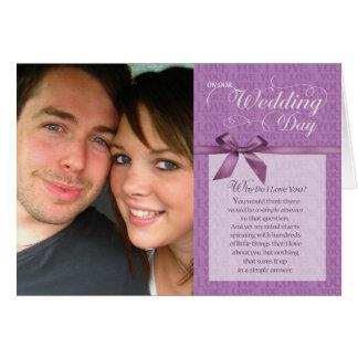 Hochzeits-Tag, warum i-Liebe Sie tun - lila mit Karte