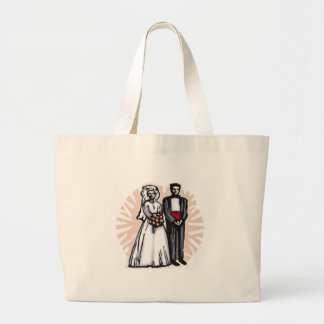 Hochzeits-Taschen-Tasche Jumbo Stoffbeutel