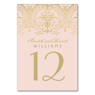 Hochzeits-Tischnummer | erröten GoldVintager