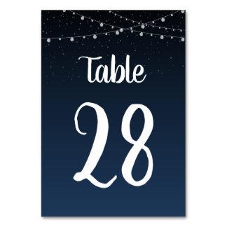 Hochzeits-Tischnummer im Starlight-Laternen-Muster Karte