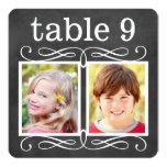 Hochzeits-Tischnummer kardiert | Braut + Ankündigung