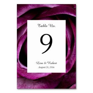 Hochzeits-Tischnummer-Karten-lila Rose Karte