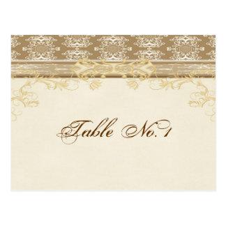 Hochzeits-Tischnummer-Postkarte