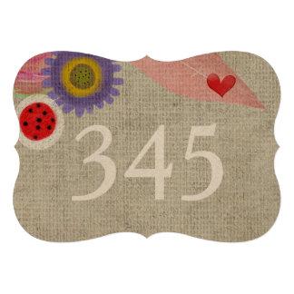 Hochzeits-Tischnummern Personalisierte Ankündigungskarten