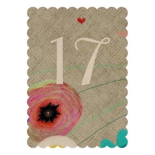 Hochzeits-Tischnummern Personalisierte Einladungskarte