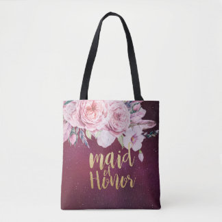 Hochzeits-Trauzeugin-Blumenfeder-Burgunder-Rot Tasche