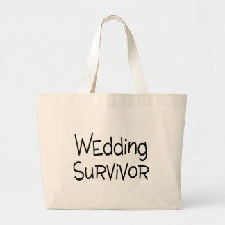 Hochzeits-Überlebender Jumbo Stoffbeutel