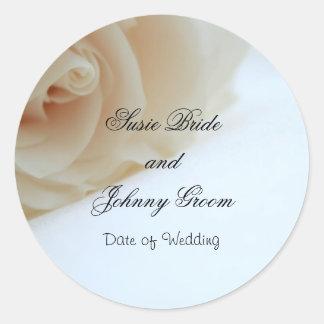 Hochzeits-Umschlag Aufkleber-Aufkleber-Schablone