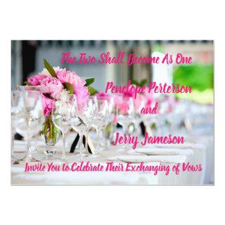 Hochzeits-und Empfangs-Einladung Einladung