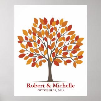 Hochzeits-Unterzeichnungs-Baum-Plakat - natürliche Poster