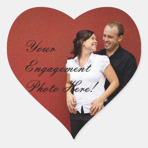 Hochzeits-Verlobungs-Foto-Aufkleber-Herz-Form