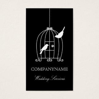 Hochzeits-Visitenkarte-Schablone Vogelkäfig Visitenkarte