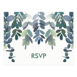 Hochzeits-Warterustikales Eukalyptus-Grün UAWG Postkarte