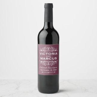 Hochzeits-Wein-Flaschen-Bevorzugung Burgunders Weinetikett