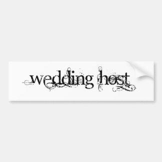 Hochzeits-Wirt Autosticker