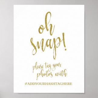 Hochzeits-Zeichen des Hochzeit Hashtag Poster
