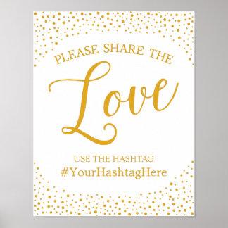 Hochzeits-Zeichen - Hashtag Poster