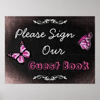 Hochzeits-Zeichen, unterzeichnen bitte unseren Poster