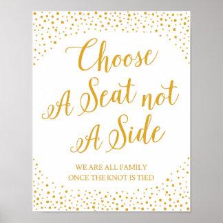 Hochzeits-Zeichen - wählen Sie ein Poster