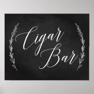 Hochzeits-Zeichen - Zigarren-Bar, das Poster