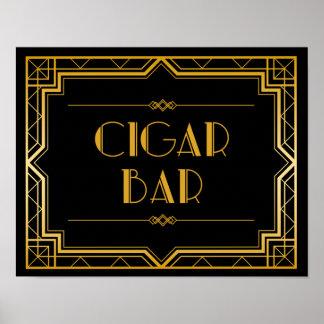 Hochzeits-Zeichen - Zigarren-Bar Gatsby Poster