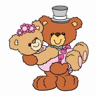 Hochzeitsbären der Braut des Bräutigams tragende n Freistehende Fotoskulptur